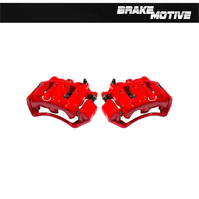 Front Red Coated Calipers Pair For 2004 FORD F150 2WD 4X4 4WD
