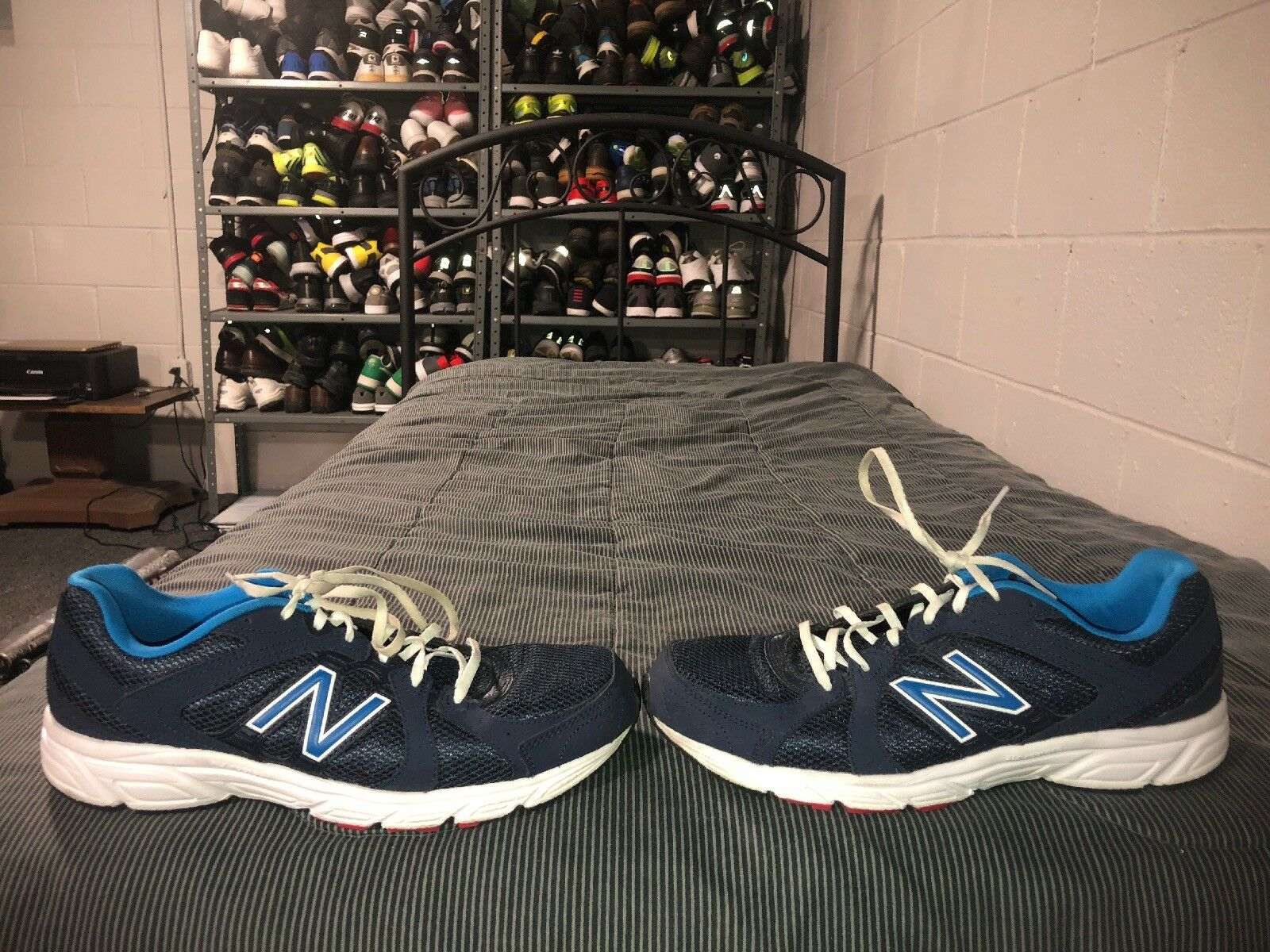 New Balance 401 Mens Athletic Running Training shoes Size 11 bluee White