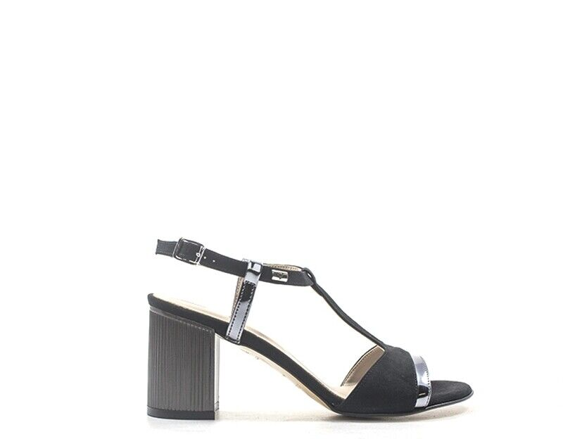 shoes VALLEgreen Woman black PU, fabric 45341NE