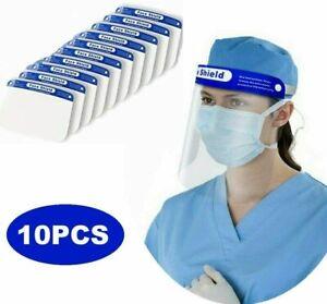 10X Visera Protectora de Seguridad Facial Ajustable Viseras Anti-spruzzo