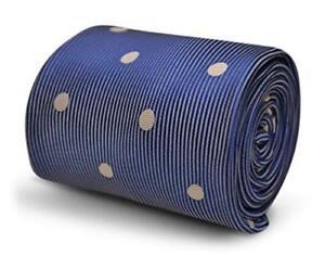 Dark Navy Light Blue Polka Dot Wedding Frederick Thomas Designer Mens Tie