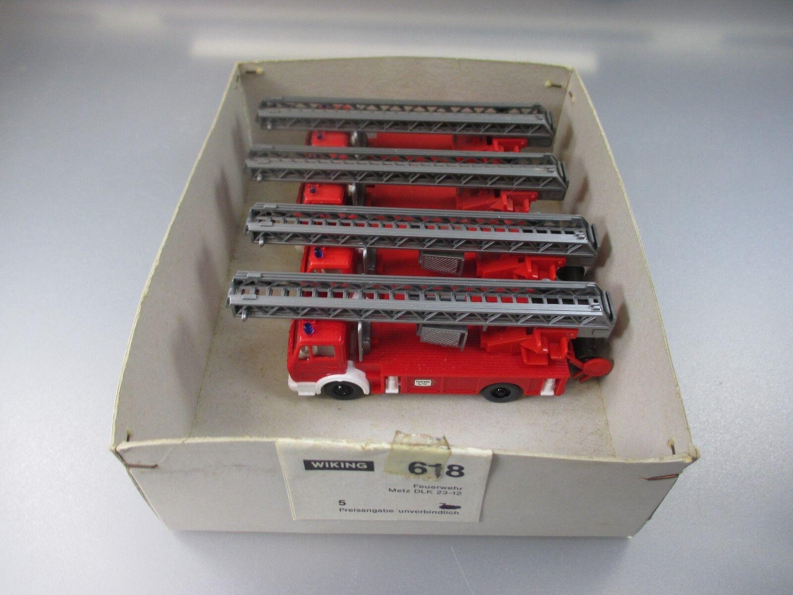 Wiking  commerçants Conditionnement 618 Avec 4x Pompiers Mercedes Benz prescripteurs 23-12 (ssk60)