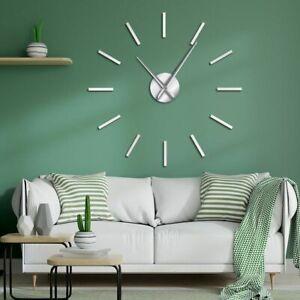 Wall-Clock-Art-Decorative-Quartz-Quiet-Sweep-Modern-3D-Big-Acrylic-Mirror-Effect