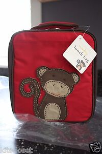 Pottery Barn Kids Lunch Box Bag Pbk Red Monkey Lunchbox
