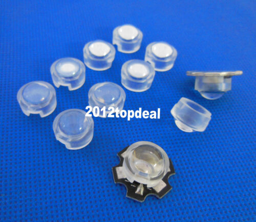 13mm *10mm Led Lens Holder 60 Degree For 1w 3w LED High Power Bead Bulb 10pcs