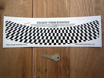 Chequered Flag HELMET VISOR SUNSTRIP Sticker Race Rally Car Bike Checked Check