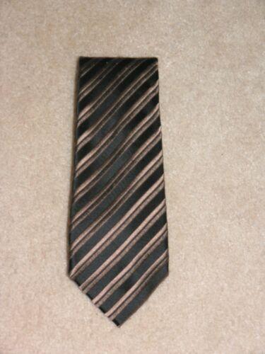 Charvet Black Striped Wide Silk Tie