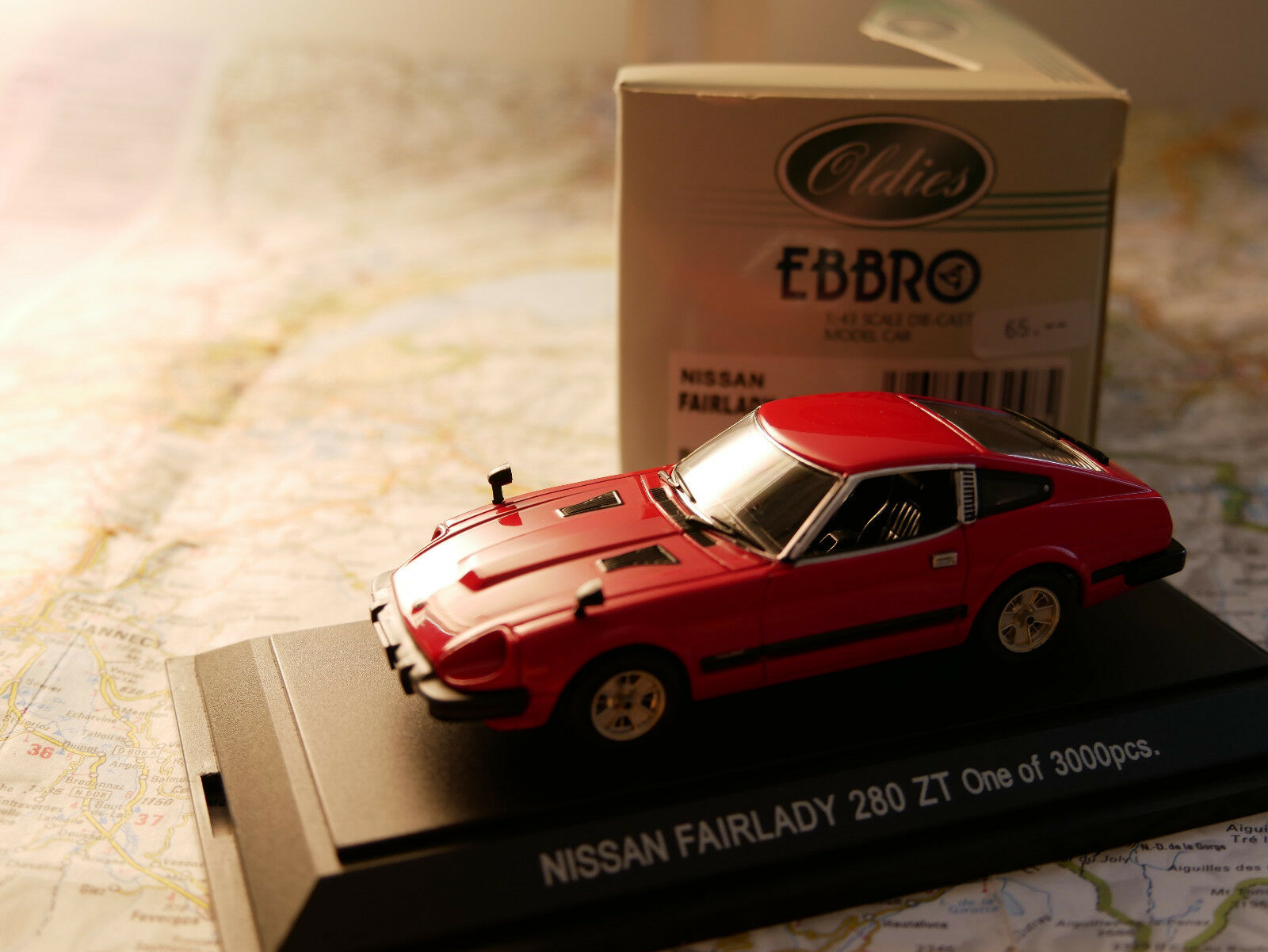EBBRO NISSAN 280 ZT RED  ART.248 1 43 DIE- CAST NEW RARE