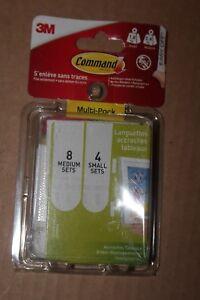 Command Pack de 12 Languettes Repositionnables 4 moyennes /& Accroches Cadre /à T/ête Clou avec Languettes Larges 8 larges
