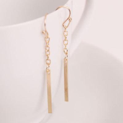 Gold Color Chandelier Dangle Earrings