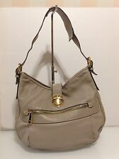 Authentic Marc Jacobs Classic Hobo Shoulder Taupe Leather. Dust Bag. Ex Cond