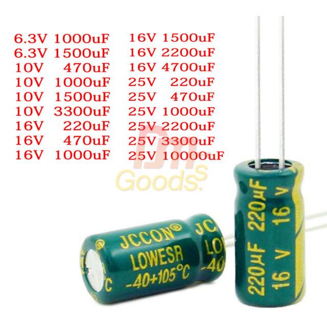 5PCS 10000UF 16V 105°C Radial Electrolytic Capacitor 18X35mm