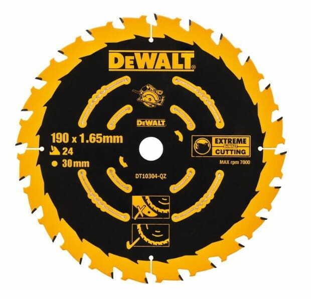 DeWALT DT 10304 Kreissägeblatt 190 x 1,65mm x 30mm 24 Zähne