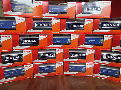 (h1) Märklin Ho 44197 & 44198 Andechser & Bionade Nuovo Conf. Orig. Carro