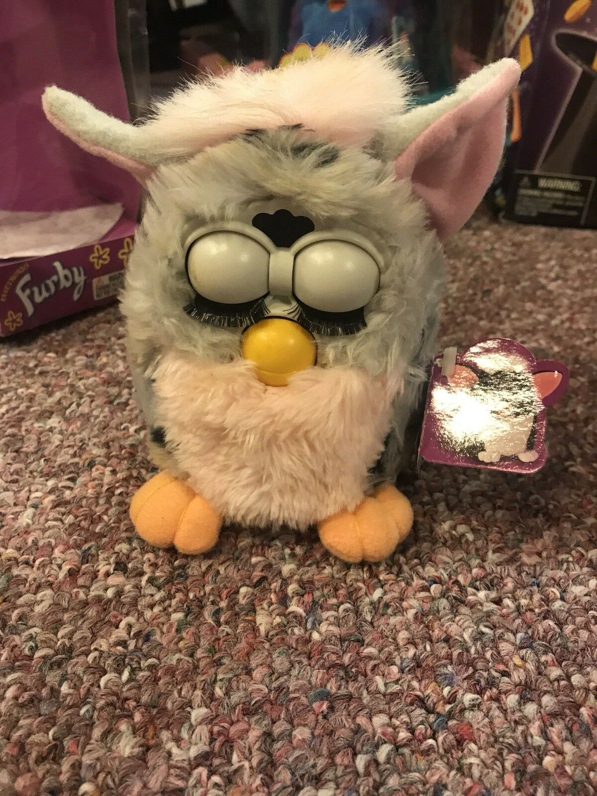 1998 Furby Pink And Grey Model 70-800 Tiger Electronics Electronics Electronics 20d157
