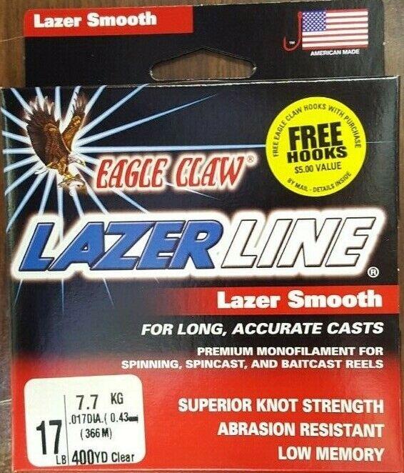 EAGLE CLAW Lazer Line Smooth 10lb 400yds Clear  EL-10