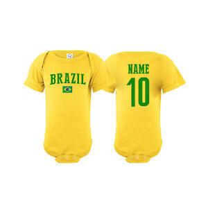 2128add79e06 Brazil Soccer Brasil Baby Outfit Mameluco Infant Girls Boys Bodysuit ...