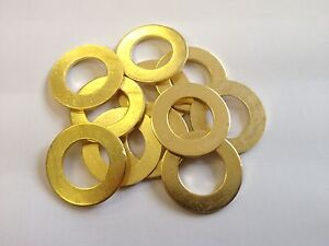 0BA 2BA 3BA 4BA 5BA 6BA 7BA 8BA 9BA 10BA Brass Flat Washers 20 Pack