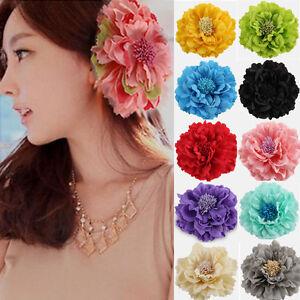 Big-Flower-Bridal-Wedding-Peony-Hair-Clip-Barrette-Brooch-Girls-Ladies-Decor