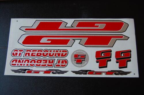 Argent /& Noir. GT Rebound Stickers Rouge
