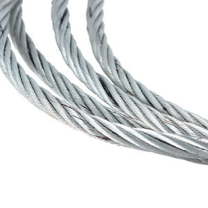 GALVANISED STEEL WIRE ROPE Winch Cable 30m Roll 3mm 4mm 5mm 6mm 8mm ...