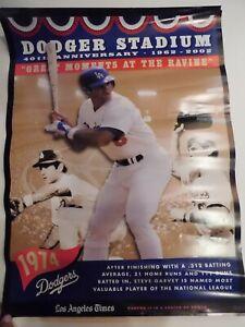 Los-Angeles-Dodgers-40th-Anniversary-Stadium-poster-STEVE-GARVEY-RARE-24x18-LT
