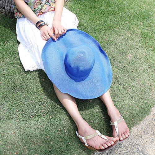 AU SELLER Vintage Style Wide Brim Floppy Fold Beach Sun Hat hat012