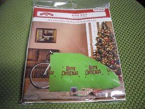 New Christmas Bicycle Gift Bag Plastic Bike Bag Green for ...