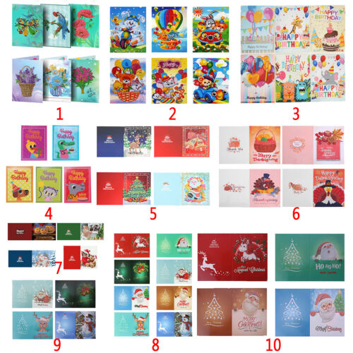 5D DIY Christmas Greeting Cards Diamond Painting Embroidery Cross Stitch Kits
