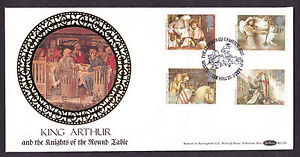 1985 ARTHURIAN LEGENDS SET OF 4 ON BENHAM BLCS6 FDC