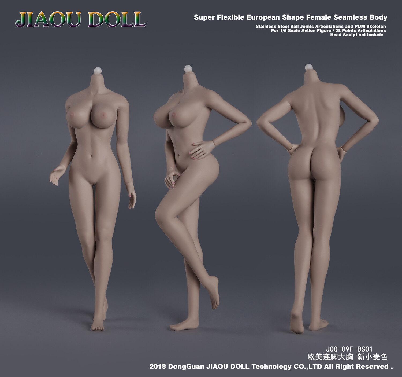 1 6 European  Big Bust l Skeleton Suntan JOQ-09F-BS01Female Figure Body Model