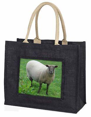 Schaf Fasziniert von Kamera große schwarze Einkaufstasche Weihnachtsgeschenk I,