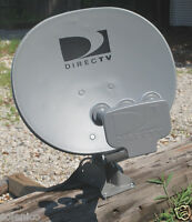 Directv 18x20 Triple Satellite Dish Antenna 4 Output Lnbf Short Foot Mast Stub