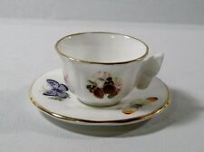 Royal Worcester BUTTERFLIES Demitasse Cup & Saucer w/Butterfly handle
