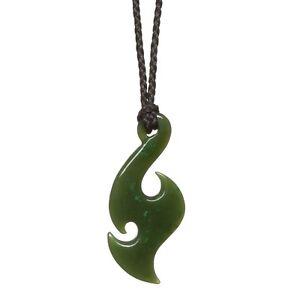 a83cfe234cc60 Details about New Zealand Greenstone Pounamu Jade Maori Fish Hook Matau  Pendant 30 or 40mm