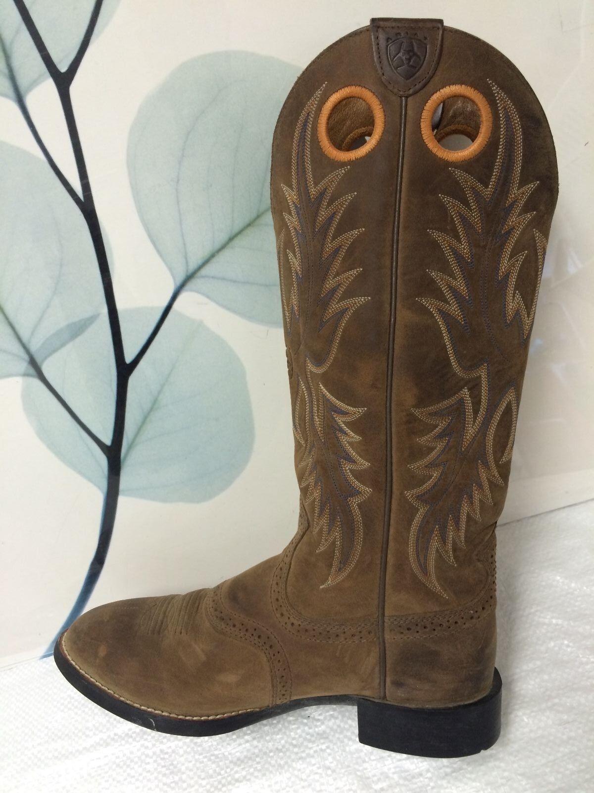 Ariat Men's Brown Mid-Calf Leather Boot US 8M   USL 9.5