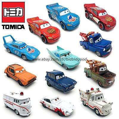 Disney Pixar Cars McQueen Mater Tomica 1:55 Diecast Vehicle Kids Toys Lot Loose