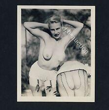 NUDE WOMEN'S OUTDOOR FUN / NACKTE FRAUEN HABEN SPASS * Vintage 50s US Photo #6