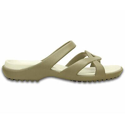 NEW Genuine Crocs Women Meleen Twist Sandal Khaki/Oyster - Australia Store