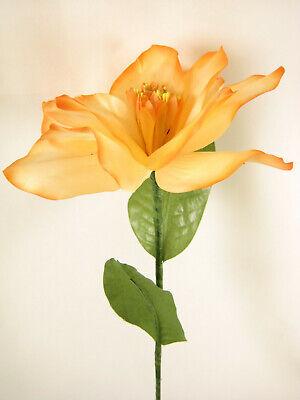 Satin Artificial Silk Flowers Giant Hand Wrap Flower Stem 20cm in diameter