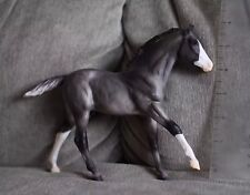 Young Gray Bald Face Breyer Model Horse Cantering / Running