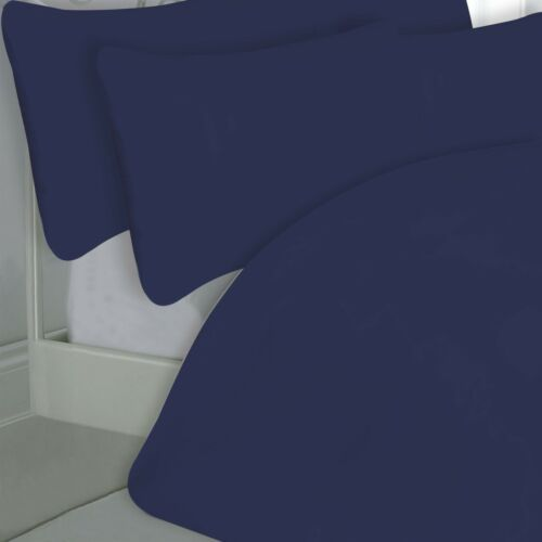 NAVY DARK BLUE HOTEL EGYPTIAN COTTON PERCALE 200 T//C DOUBLE BED DUVET SET