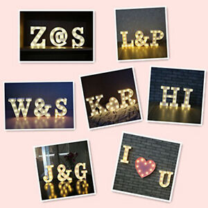 Image Is Loading Decorative LED Illuminated Letter Alphabet Wedding Christmas Party