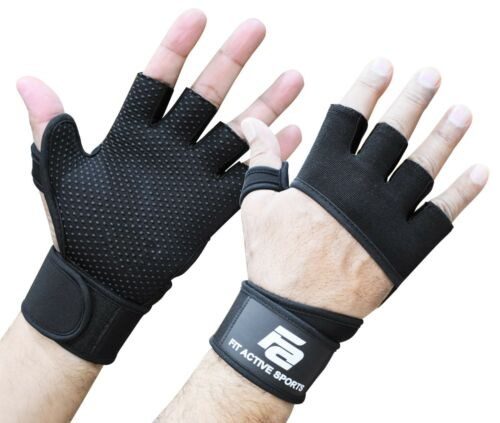 Gym Workout Wrist Wrap Fit Active Sports Workout Gloves for Weight lifting