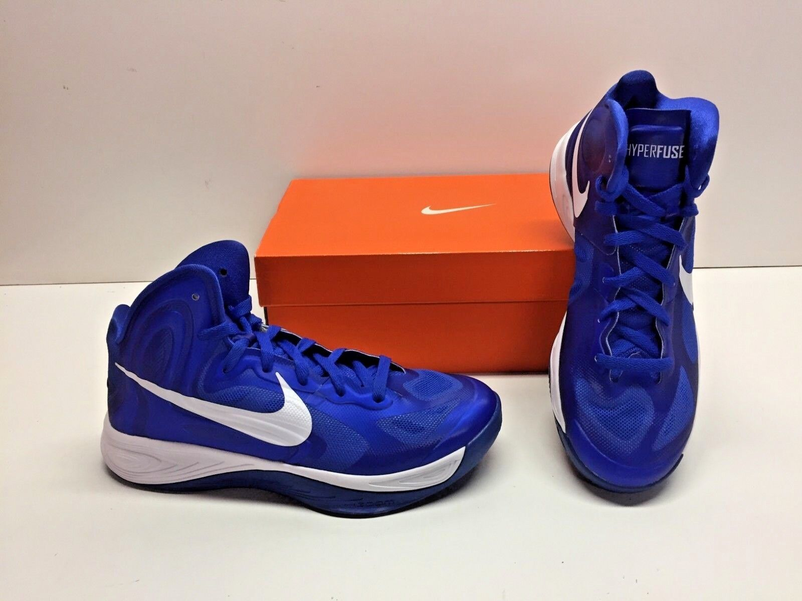 Nike Zoom Hyperfuse TB Basketball bluee & White Athletic Sneakers shoes Mens 10