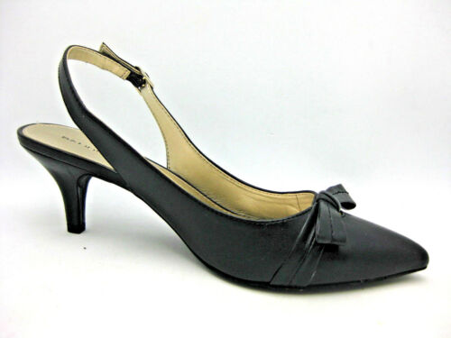 Heels Toe Slingback Black Pointed Bow Bandolino Women's 9 Shoes 5m Diara qBacwOZ