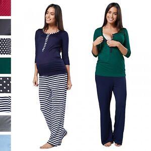 ae4dd4b3f3bc9 Happy Mama. Women's Maternity Top Nursing Breastfeeding Pyjamas Crew ...