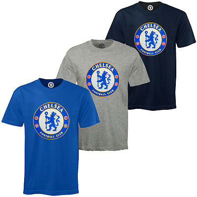 Chelsea FC Childrens T Shirt Blue Short Sleeved Graphic Cotton CBF Football Top