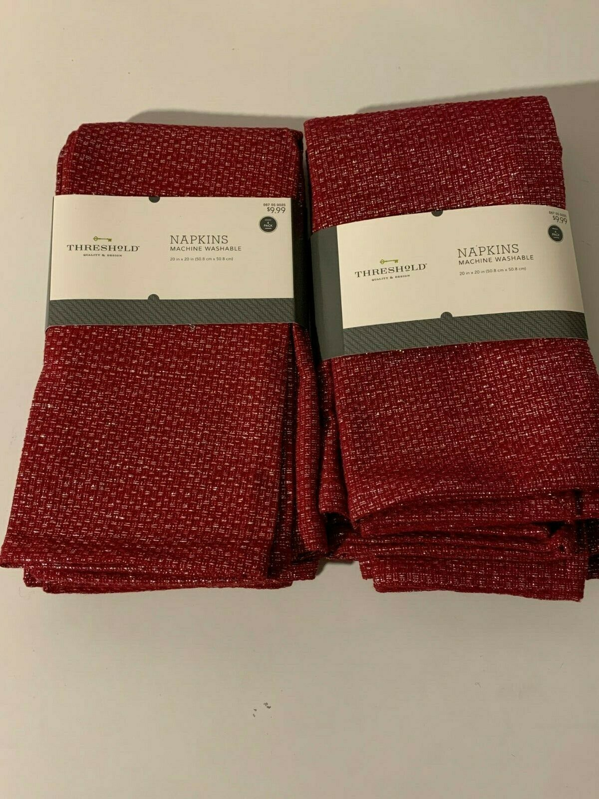 Hand Dyed Ombr\u00e9 4 Ruby Red Cloth Napkins