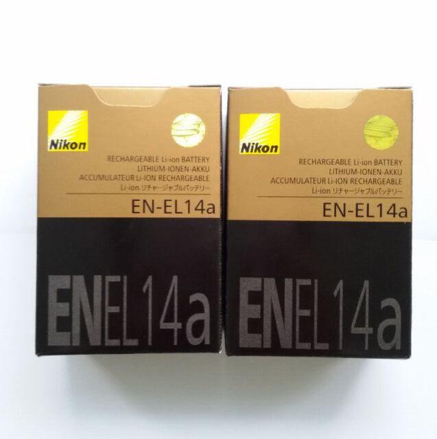 2pcsx EN-EL14A Akku für Nikon Coolpix D3100 D3200 D3400 D5100 D5200 P7000